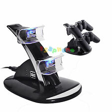 LED DUAL CONTROLLER CHARGER CHARGING DOCK STATION STAND FOR PLAYSTATION 3 PS3