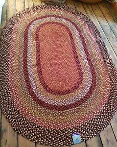 100% Jute Oval 3 Great sizes American Braided style rug. Reversible rustic look