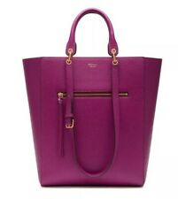 Mulberry Maple Violet Leather Tote Bag - Dual Straps