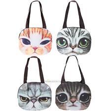 Women 3D Cute Cat Face Shoulder Bag Animal Pattern Handbag Shopping Purse Tote