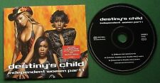 Destiny's Child Independent Women Part 1 inc Club Mixes CD Single