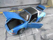 PORSCHE 911 2.4 Targa S 1973 blue blau met F-Modell RAR Schuco 1:18