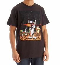 NWT Looney Tunes Space Jam Bugs Bunny Taz Men Gray S/S Graphic Tee T-Shirt/Top S