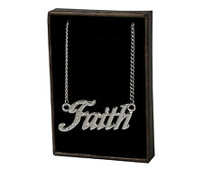 """Name Necklace """"FAITH"""" –18K Gold Plated 