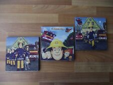 FIREMAN SAM CANVAS WALL ART PLAQUES/PICTURES SET a - FREE POSTAGE