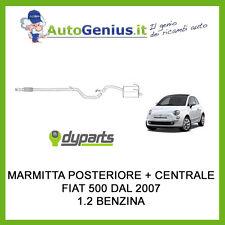 MARMITTA SILENZIATORE POSTERIORE E CENTRALE FIAT 500 1.2 BZ 70 CV DAL 2007