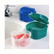 Orafix Denture Bath Daily Cleaning Container Case Storage Box GR + BRUSH BONUS