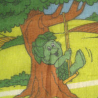 Sprout Jolly Green Giant Throw Blanket Fleece 70 Inch Vintage 80s Advertising