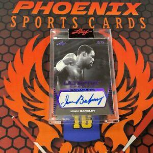 IRAN BARKLEY Purple Foil Signatures Auto 9/15 2021 Leaf Ultimate Sports JK