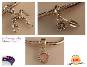 Solid Auth 925 Sterling Silver Charm Bead Bracelet Fit European Garden,Acrobat