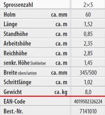 Hymer Holz-sprossenstehleiter beidseitig begehbar 2x5 7141010