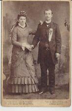 Vintage Wedding Photo Cabinet Card Chicago IL 5