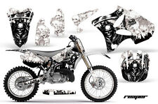 Graphics Kit Decal Wrap + # Plates for Yamaha YZ125 YZ250 2002-2014 REAPER WHITE