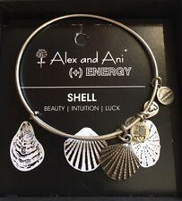 Alex & Ani Shell SHELL  Charm Bangle W/Card & Box. RAFAELIAN SILVER