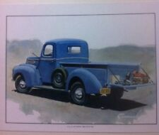 """1942 Ford Pickup"" Illustration 8x10 Reprint Garage Decor"