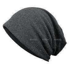 New Stripe Oversize Baggy Beanie Blank Winter Slouchy Hat Cap Skull Knit Ski