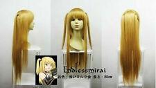 Death note Amane Misa blonde Long Cosplay Wig 80cm