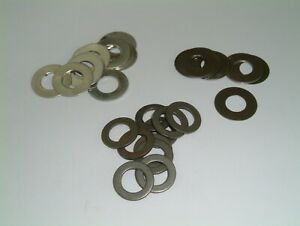 M9 Steel Washers 9mm I/D to 10mm I/D-Choose from 4 different sizes