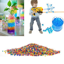 2000Pcs/10 Bags Crystal Mud Soil Water Beads Gun Crystal Soft Bullets HU