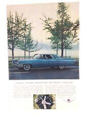 Vintage 1964 Cadillac 4 Door Original Print Ad GM Automobile