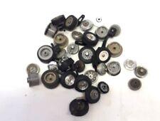 O14) gros lot de pneus et jantes divers pour restauration circuit routier jouef