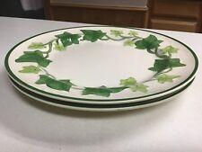 "Set of 2 ~ 1960's Franciscan Ivy 10 1/4"" Dinner Plates"