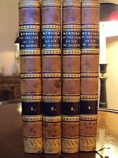 Memoirs of the Life of Sir Walter Scott Leather Bd Books 4Vol.1st Ed/1837 France