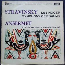 Stravinsky - Les Noces/Symphony Of Psalms, ANSERMET, OSR, Decca LXT 5639 MONO