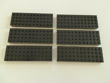 Lego 4202  # 6 x  Bau Platten Bauplatten 4x12 hoch schwarz 7237