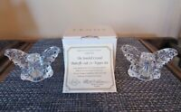 Lenox Collection Jeweled Crystal Butterfly Salt & Pepper Shakers * COA * NIB