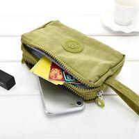 UK Womens Phone Bag Short Wallet Three-Layer Zipper Purse Big Size  Purse