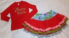 Matilda Jane Sparkletown Lollipop Raven Tutu Skirt Red Santa Rocks Shirt Top 5 6