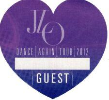 """Jennifer Lopez """"Jlo"""" 2012 Dance Again Tour Guest Pass Sticker Badge"""