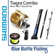 Shimano Tiagra 80WA Reel + Tiagra 37kg Bent Butt Rod + Spooled with 37kg Momo...