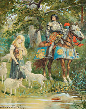 Nystrom Jenny The Knight And The Shepherdess Canvas Print 16 x 20       #4242