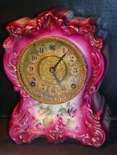 "New ListingAntique Shelf / Mantel Clock - Porcelain, Royal Bonn Case No. 414, 10.5"" Tall"