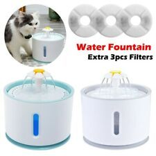 USB LED Automatic Water Fountain Cat Dog Pet Drinking Dispenser Wtih Filters Kit