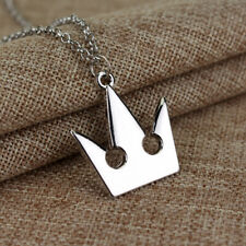 Kingdom Hearts Silver color Royal Crown Long Chain Pendant Necklace Gift