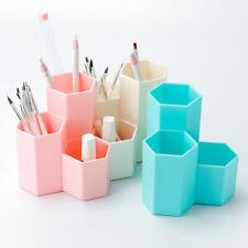 Makeup Brush Holder Storage Organizer Plastic Desktop Cosmetic Organiser Box
