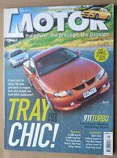 Motor Feb 2001 Ford XR8 Falcon Ute, Holden SS Ute, Mazda SP20, 911 Turbo, ZR-1
