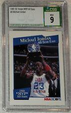 1991-92 Hoops All-Star MVP #9 (#IX) Michael Jordan CSG 9 Mint HOF Bulls RARE 🔥