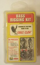Eagle Claw Bass Rigging Kit BRK60K 48 Piece With Plano Type Tackle Box NEW NIB