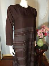 Very Soft Khaleeji Abaya Middle Eastern Jilbab Hijab Dubai Made Size M 56