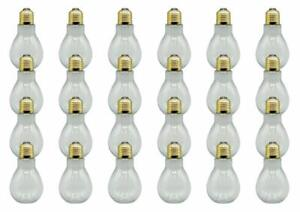 Creative Hobbies 24 Pack Clear Plastic Fillable Light Bulbs for Candy, Weddings
