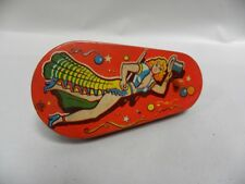 Vintage US Metal Toys Tin Litho Spinner Party Noise Maker (A4)
