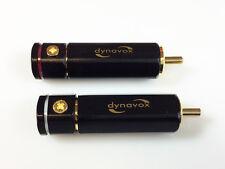 2 x Dynavox High-End Cinch-Stecker bis 8mm Kabel vergoldet Schraubklemmung