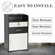 Rolling Hair Salon Station Locking Beauty Salon 3-Tier Cabinet Stylist Equipment