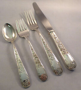 Old Maryland Engraved-Kirk Sterling 4-PC Place Setting(s)-Modern