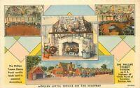 Excelsior Springs Missouri Phillips Tourist Tavern 1930s Postcard Teich 5797