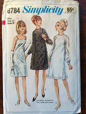 """Vintage 1970's Simplicity #6784 Dress Sewing Pattern Size 12, Bust 32"""""""